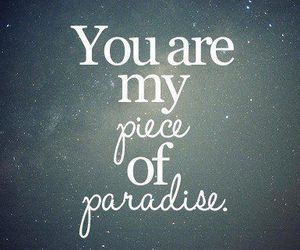 paradise, love, and quote image
