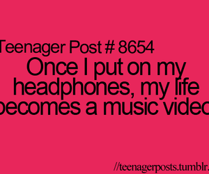 music, teenager post, and headphones image