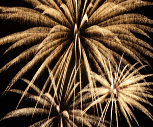 fireworks, love, and glam image