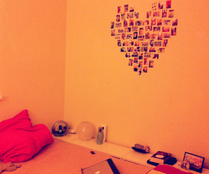 bed, girl room, and heart image