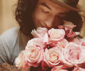 ezra miller, flowers, and rose image