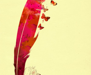 butterfly, art, and boy image