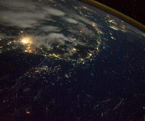 earth and light image