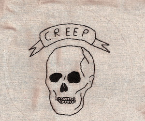 creep and skull image