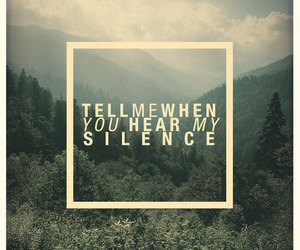 silence, quote, and forest image