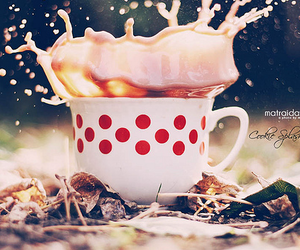coffee, cup, and dots image