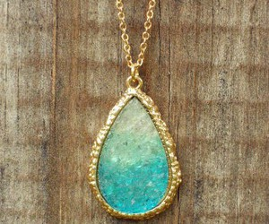 necklace, gold, and blue image