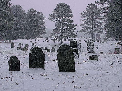 death, hurt, and cemetery image
