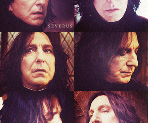 alan rickman, severus snape, and harry potter image