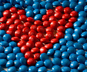 heart, blue, and red image