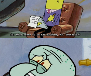 funny, spongebob, and squidward image