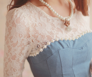 fashion, lace, and girl image