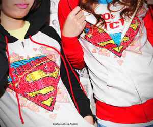 jacket, superman, and Supergirl image