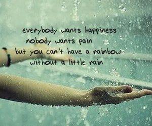 rain, rainbow, and quotes image