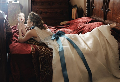 mirror, dress, and drew barrymore image