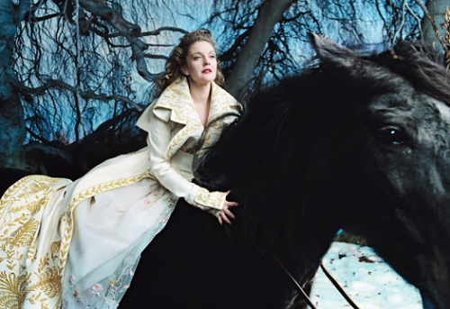 drew barrymore, beauty and the beast, and fashion image