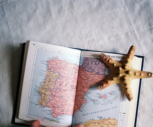 book, star, and map image