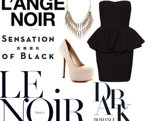 black, fashion, and french image