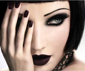 black, make up, and makeup image