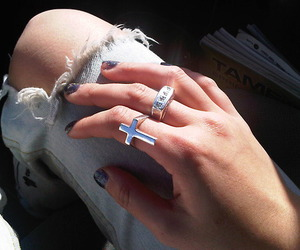 cross, fashion, and ring image