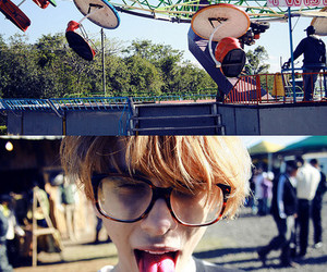 boy, fashion, and glasses image