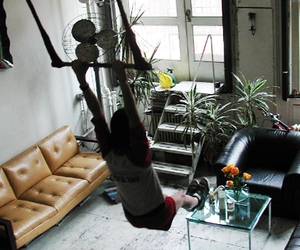 house, interior design, and swing image