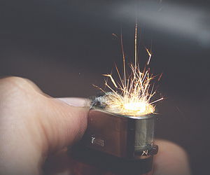 fire, lighter, and sparks image