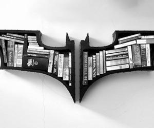book, batman, and bookshelf image