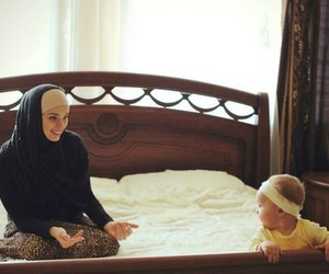 baby, mother, and muslim image