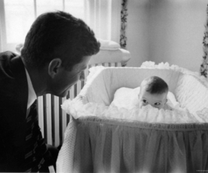 cute, baby, and father image