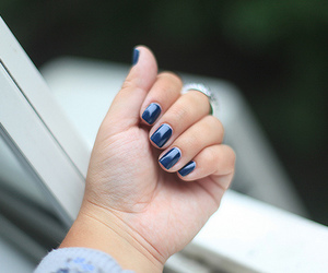 nails, girl, and ring image