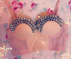fashion, pink, and spikes image