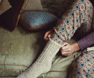 socks, vintage, and winter image