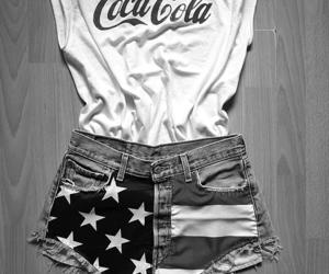 fashion, coca cola, and shorts image