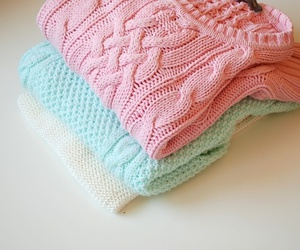 clothes, mint, and sweaters image