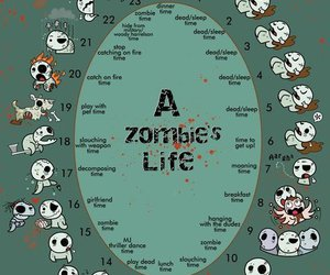 funny, life, and zombie image