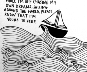 boat, life, and quote image