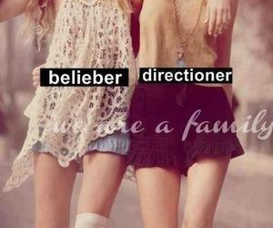 belieber, directioner, and family image