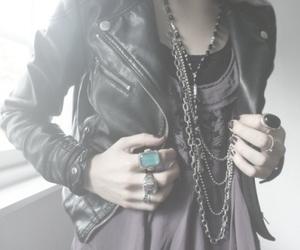 fashion, rings, and jacket image