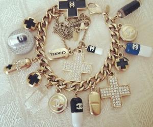 chanel, bracelet, and gold image