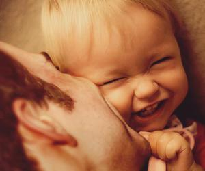 father, smile, and kid image