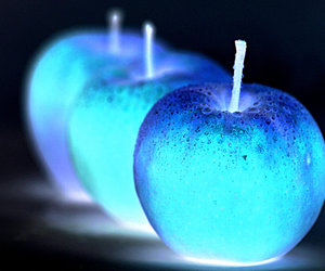 apple, beautiful, and blue image