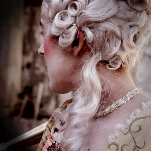 curls, marie antoinette, and powdered wig image