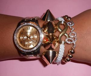 fashion, gold, and love image