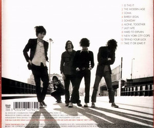 album cover, the strokes, and is this it image
