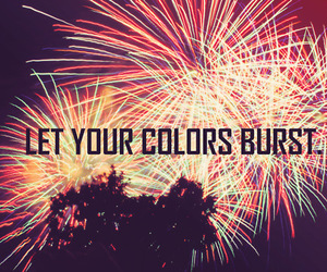 christmas, colours, and fireworks image
