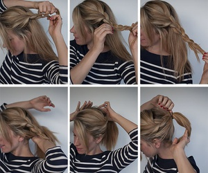 blond, girl, and braid image