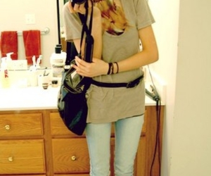 boots, mirror, and camera image