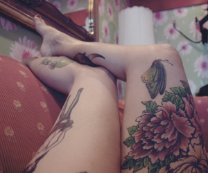 beleza, flor, and tattoo image