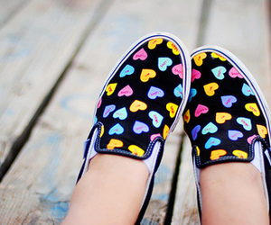 shoes, hearts, and vans image